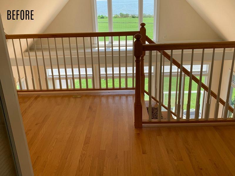 upstairs landing before remodel