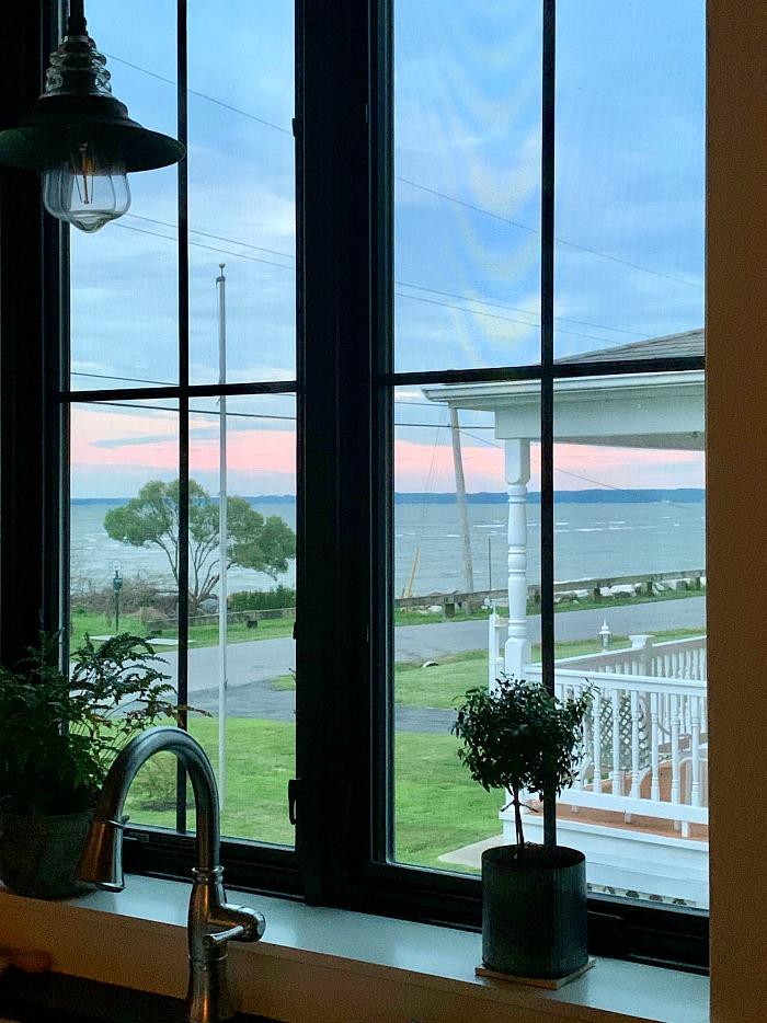 view of chesapeake bay from kitchen window