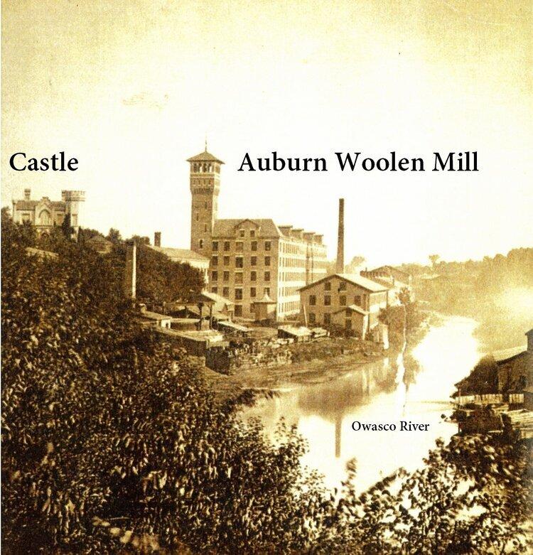 Auburn Woolen Mill on Owasco River vintage photo