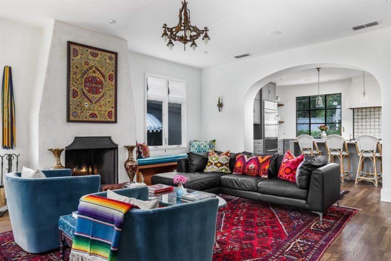 Austin Bungalow 122 Laurel Lane For Sale living room fireplace