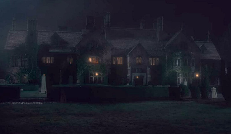 Bly Manor at night