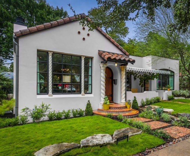 Spanish Revival Bungalow For Sale Austin Texas exterior