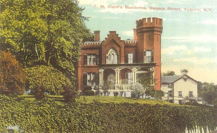 Vintage postcard of Scottish Castle in Auburn