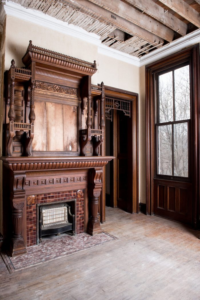large old fireplace in castle