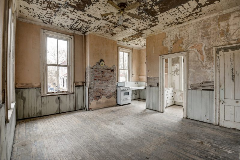 old kitchen in castle
