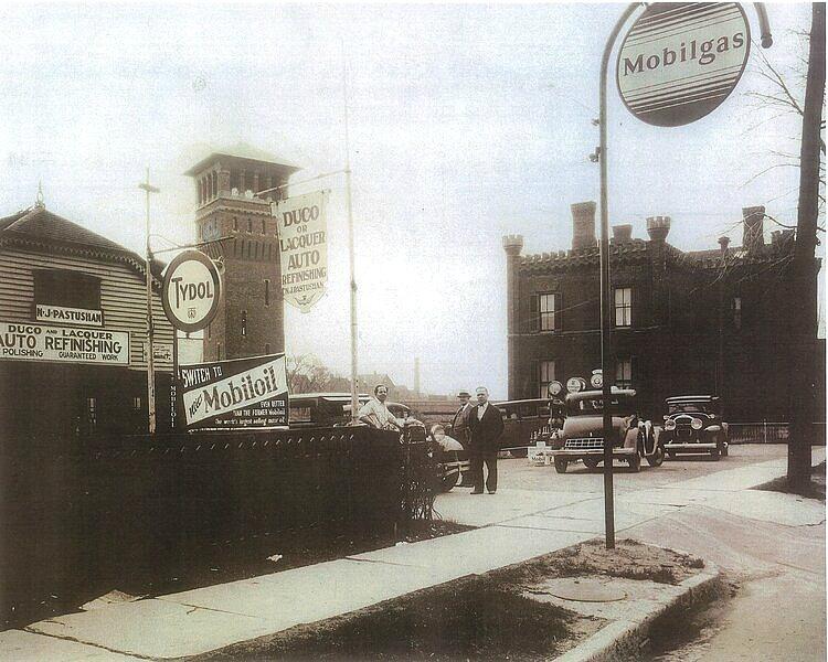vintage black and white photo Owasco Street Auburn