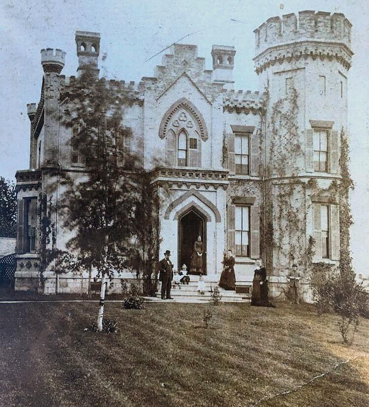 vintage photo historic scottish castle in auburn ny