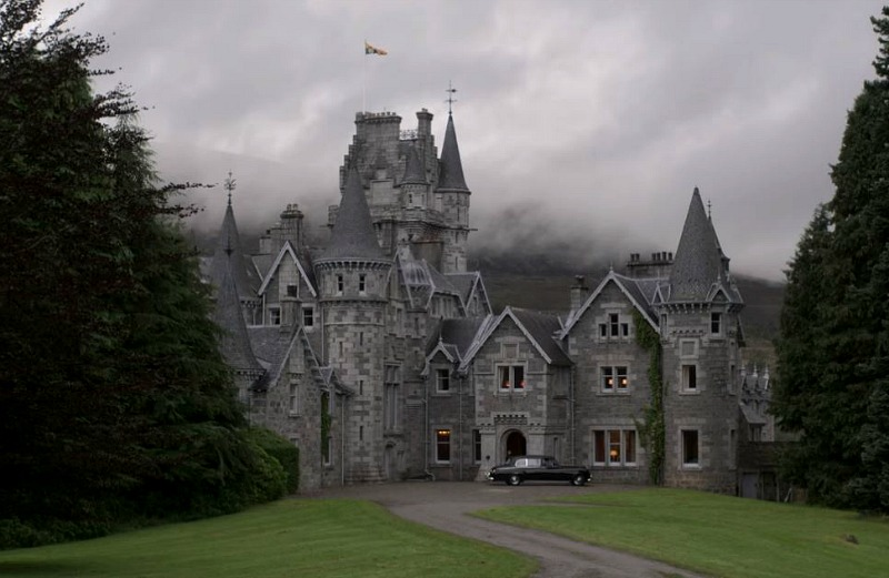 "exterior of Ardverikie House in Scotland in ""The Crown"" Season 4"