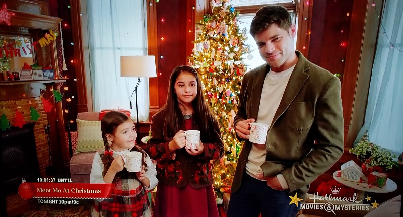 Hallmark movie Holly and Ivy living room at Christmas