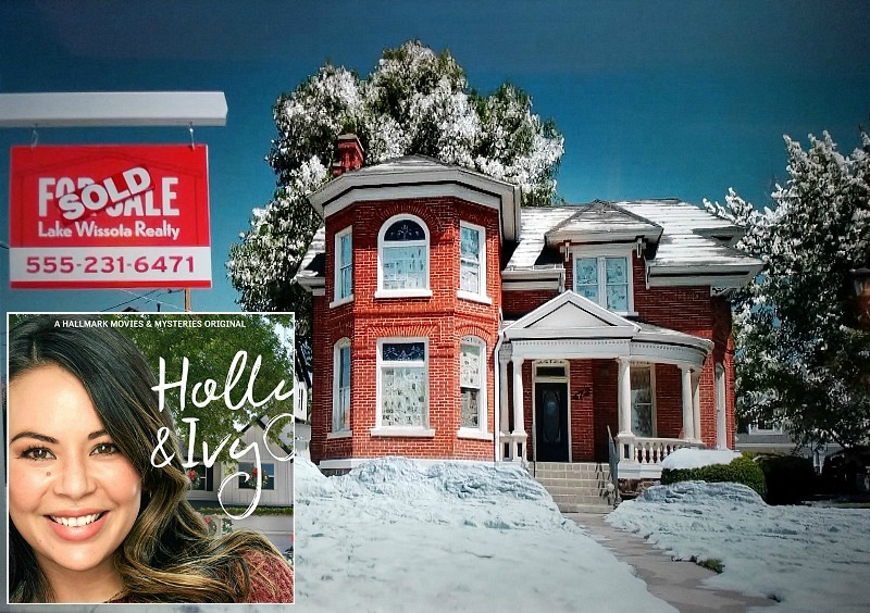 """exterior of the red-brick Victorian house in """"Holly & Ivy"""" movie"""