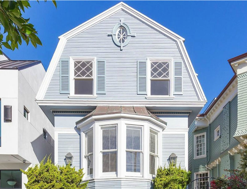 Front Exterior of Winona Ryder's Dutch Colonial For Sale Union Street