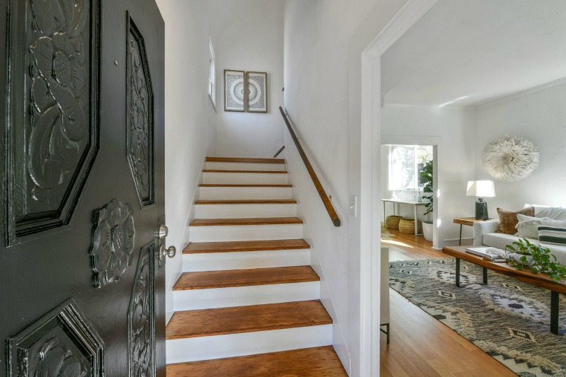 looking inside front door to staircase