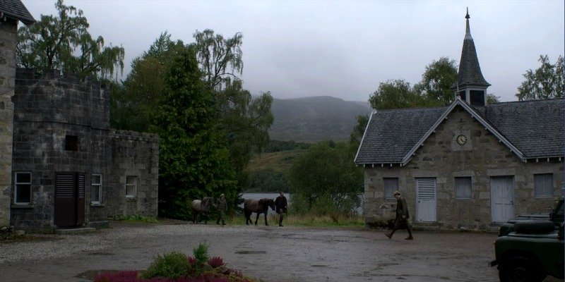 stables in The Balmoral Test episode The Crown